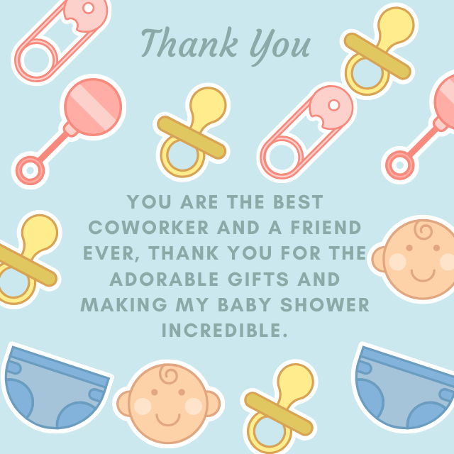 Thank You co worker for attending baby shower