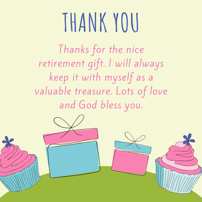 Thank you for Retirement Gift