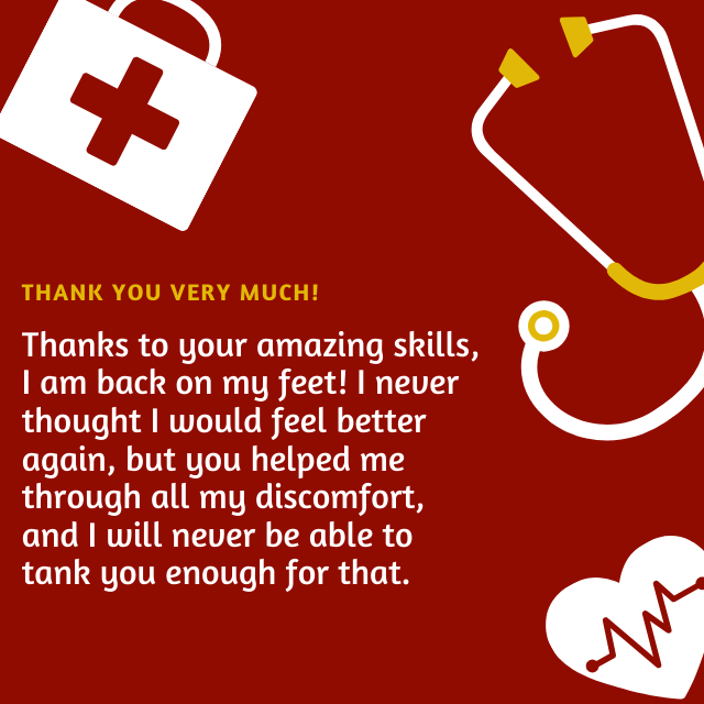 Thanks to your amazing skills nurse