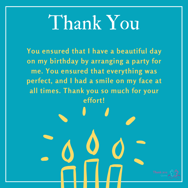 thank you for arranging 50th birthday party