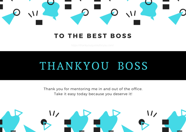thank you quotes and messages for boss