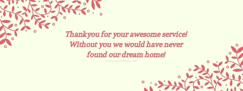 Thank you for being a part of our home hunt