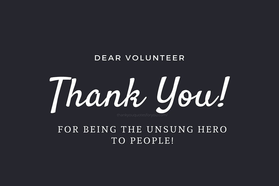 Thank you for your memorable contribution by volunteering!