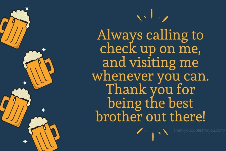 Thank You Quotes Messages For Brother