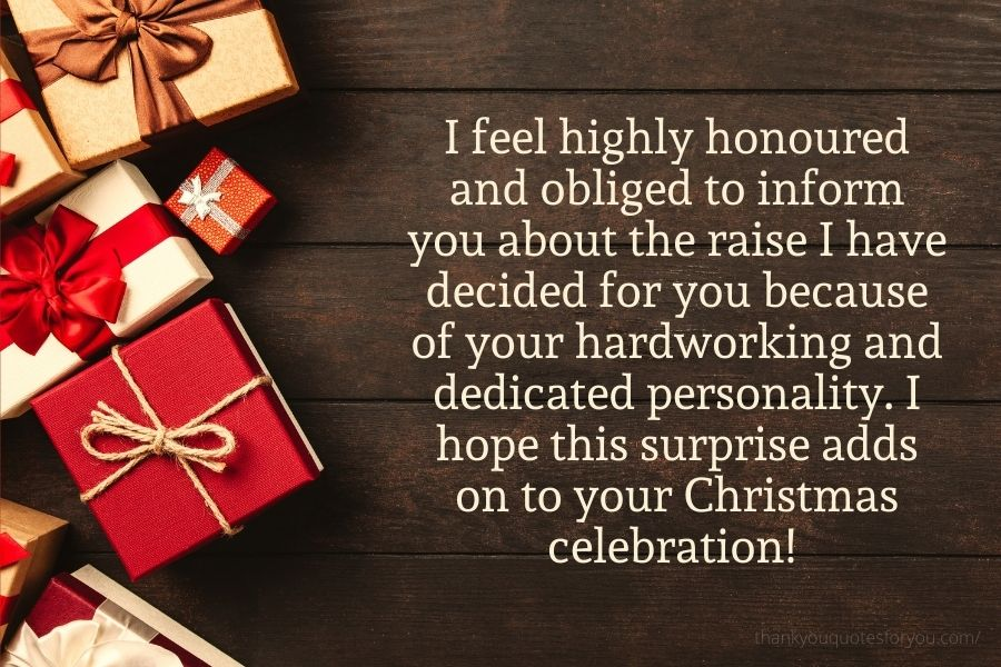 Thank you for being so generous and dedicated to our entire company.