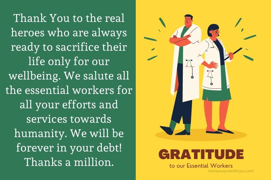 Thank You Messages for Essential Workers