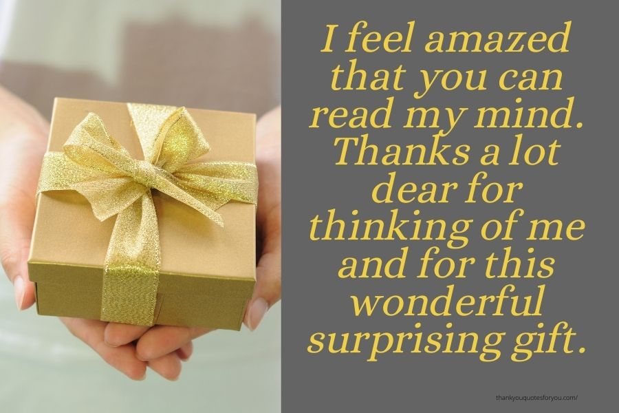 Thankful after unexpected gift