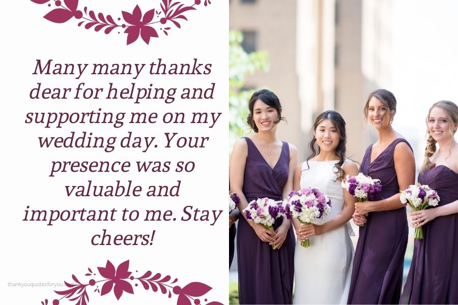 Much thanks to you for remaining close by my side on my special day