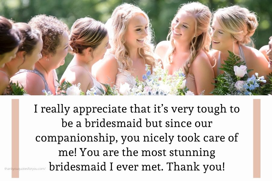 Many many thanks dear for helping and supporting me on my wedding day.