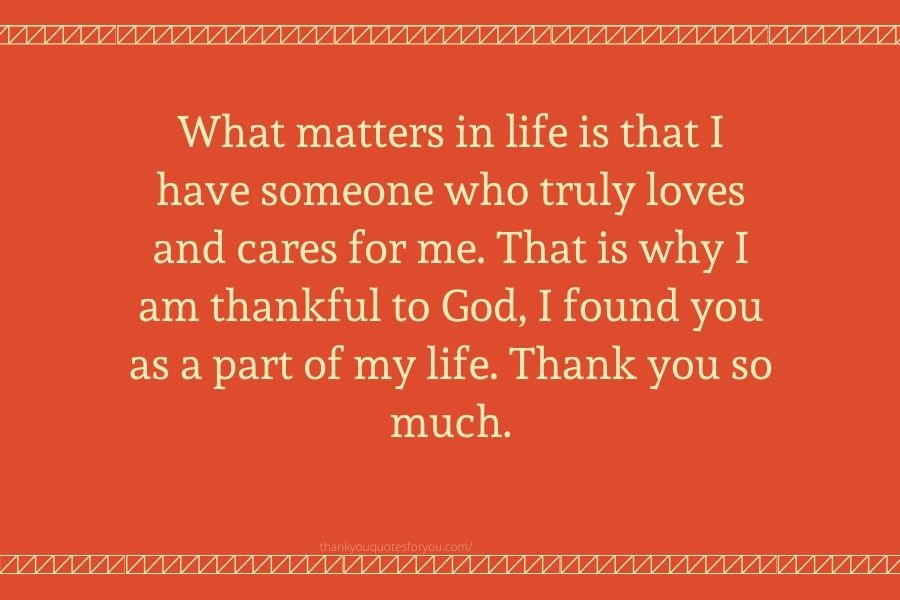 Thank you for being with me.