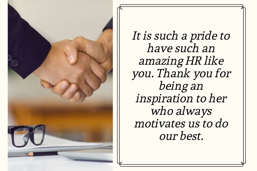 Thank you so much for being our HR